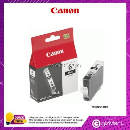 (New Sealed Expired) Canon Ink Cartridge BCI-6BLK Black