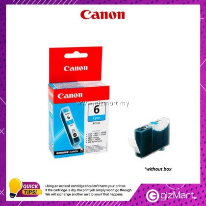 (New Sealed Expired) Canon Ink Cartridge BCI-6C Cyan