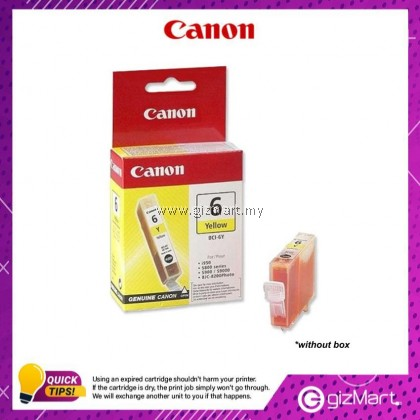 (New Sealed Expired) Canon Ink Cartridge BCI-6Y Yellow