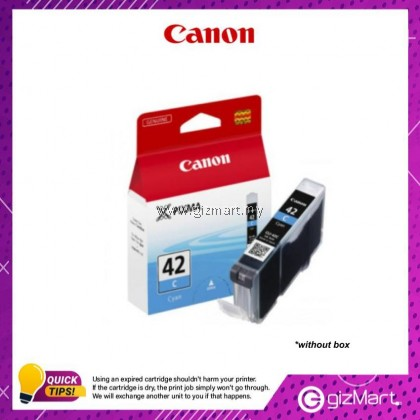 (New Sealed Expired) Canon Ink Cartridge CLI-42C Cyan