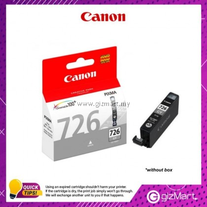 (New Sealed Expired) Canon Ink Cartridge CLI-726GY Grey