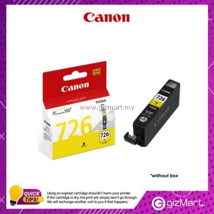 (New Sealed Expired) Canon Ink Cartridge CLI-726Y Yellow