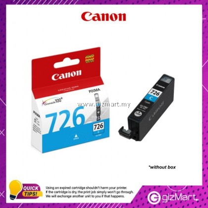 (New Sealed Expired) Canon Ink Cartridge CLI-726C Cyan