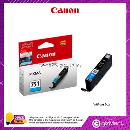 (New Sealed Expired) Canon Ink Cartridge CLI-751C Cyan