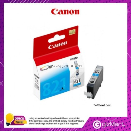 (New Sealed Expired) Canon Ink Cartridge CLI-821C Cyan