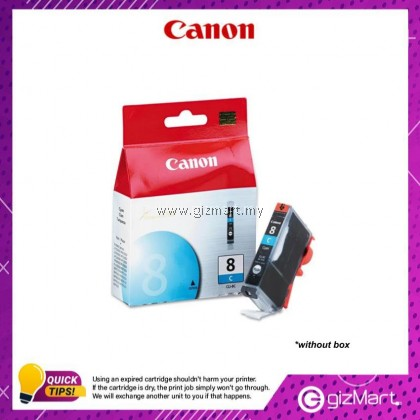 (New Sealed Expired) Canon Ink Cartridge CLI-8C Cyan