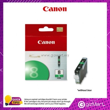 (New Sealed Expired) Canon Ink Cartridge CLI-8G Green