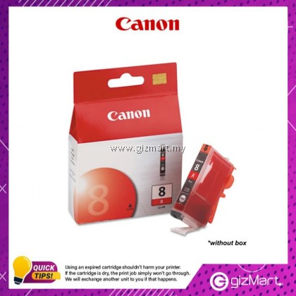 (New Sealed Expired) Canon Ink Cartridge CLI-8R Red