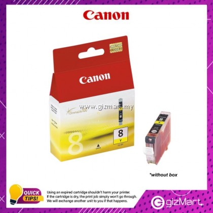 (New Sealed Expired) Canon Ink Cartridge CLI-8Y Yellow