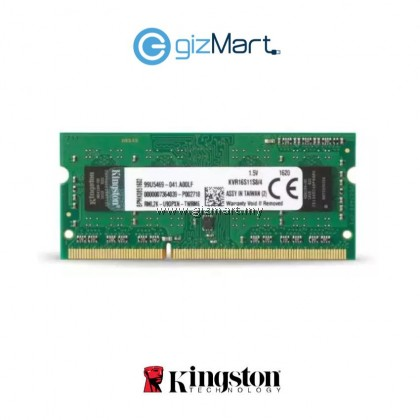 Kingston 4GB 1600MHz DDR3 Sodimm Notebook RAM