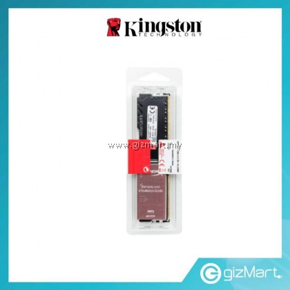 KINGSTON HYPERX FURY 8GB 2666MHZ DDR4 CL16 DIMM CL16 1RX8 - BLACK