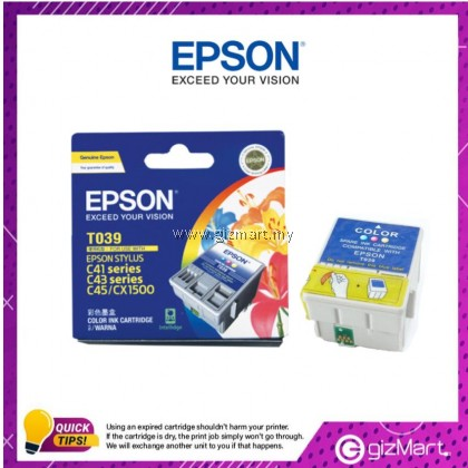 (New Sealed Expired) Epson Ink Cartridge T039 Color
