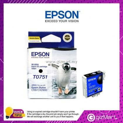 (New Sealed Expired) Epson Ink Cartridge T0751 Black