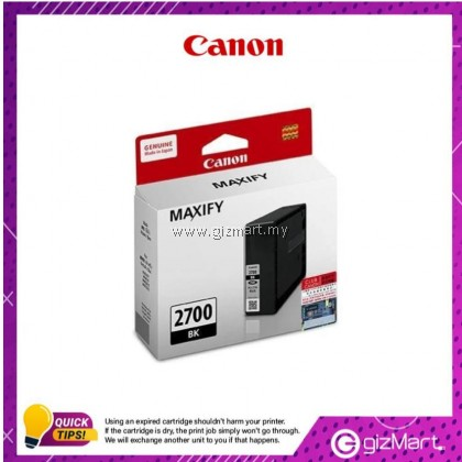 (New Sealed Expired) Canon Ink Cartridge Maxify PGI-2700 Black