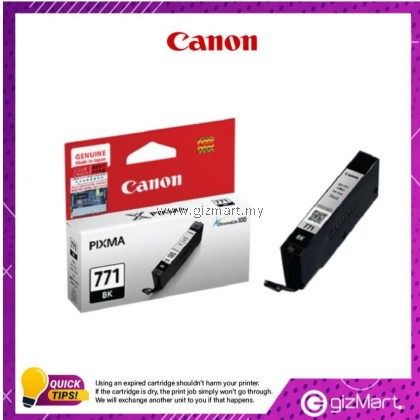 (New Sealed Expired) Canon Ink Cartridge Pixma CLI-771BK Black