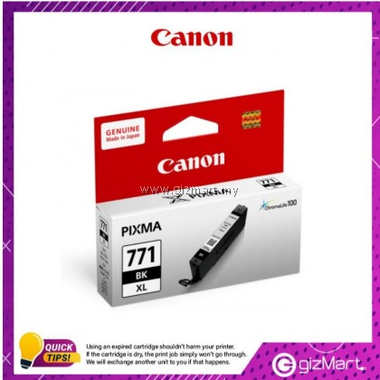 (New Sealed Expired) Canon Ink Cartridge Pixma CLI-771BKXL Black