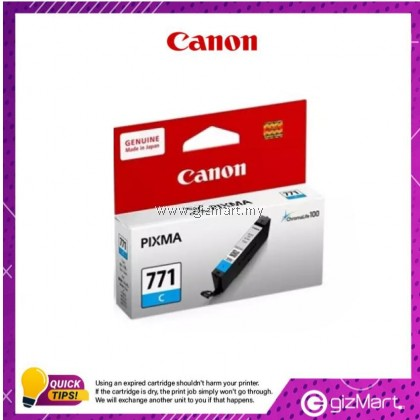(New Sealed Expired) Canon Ink Cartridge Pixma CLI-771C Cyan