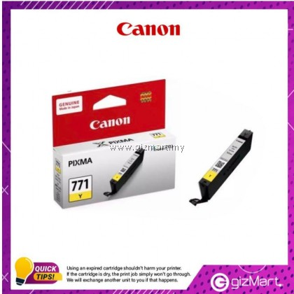 (New Sealed Expired) Canon Ink Cartridge Pixma CLI-771Y Yellow
