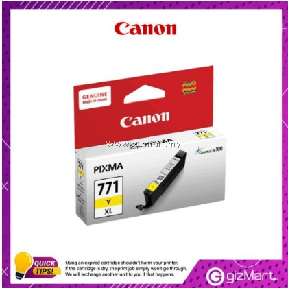 (New Sealed Expired) Canon Ink Cartridge Pixma CLI-771YXL Yellow