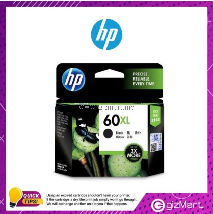 (New Sealed Expired) HP Ink Cartridge 60XL Black