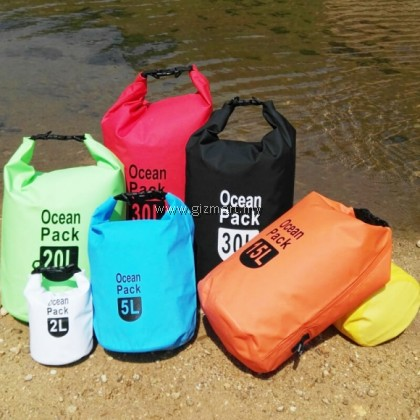 Ocean Pack Waterproof Dry Bag Suitable For All Outdoor Sports / Camping size 5L/10L/20L