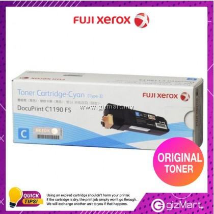 (New Sealed Expired) Original FUJI XEROX C1190FS TONER CARTRIDGE - CYAN