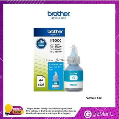 (New Sealed Expired) BROTHER BT5000C CYAN INK