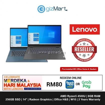 "LENOVO Ideapad Flex5 81X2006RMJ 14"" Laptop-Graphite Grey (Ryzen5-4500U, 8GB, 256GB, Win10, H&S)"