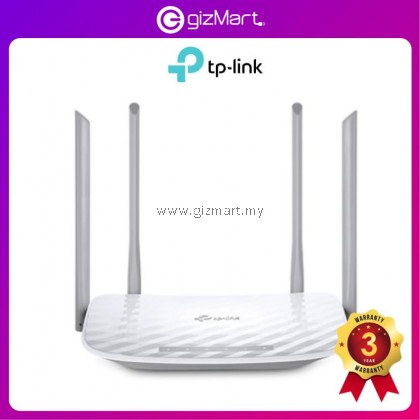 TP-LINK Archer A5 - AC1200 2.4GHz + 5GHz Dual Band Wireless WiFi Router / Access Point (ARCHER C50)