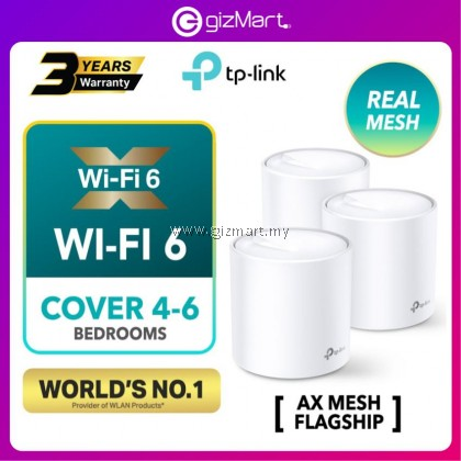 TP-Link Deco X60 (3-Pack) WIFI 6 AX1800 Gigabit Whole Home Mesh WiFi Wireless Router Wi-Fi System