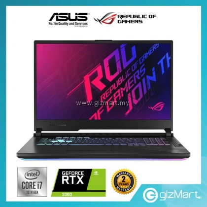 "ASUS ROG Strix G15 G512L-VHN146T 15.6"" Gaming Laptop-ROG Black (i7-10750H, 16GB, 1TB, RTX2060, Win10)"
