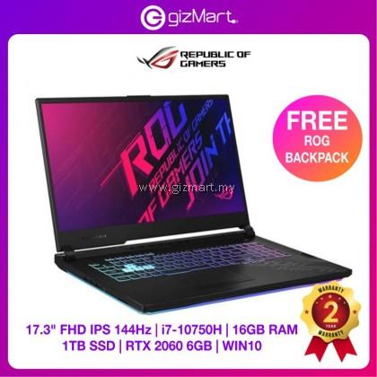 "ASUS ROG Strix G17 G712L-VEV067T 17.3"" 144Hz Gaming Laptop-Black (i7-10750H, 16GB, 1TB, RTX2060, Win10)"