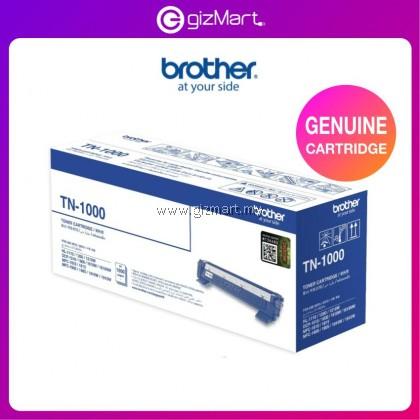 Brother TN-1000 Original Monochrome Toner Cartridge, Black, for HL-1110, HL-1210W, DCP-1510, DCP-1610W, MFC-1910W