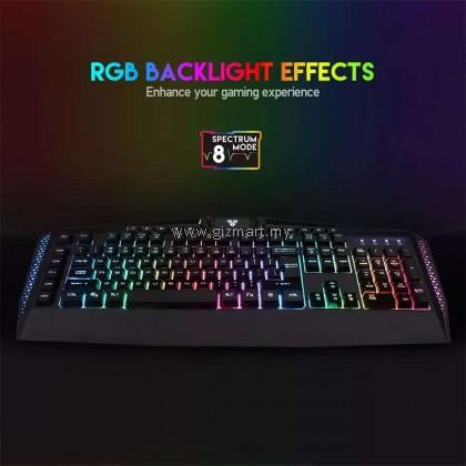 Fantech Booster K513 RGB Full Size Gaming Keyboard with Macro Keys and Dedicated Shortcut Keys