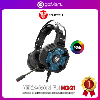 Fantech HG21 Hexagon Virtual 7.1 Surround Over-Ear RGB Gaming Headset