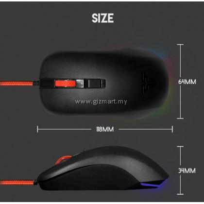 Fantech G13 Rhasta II Pro 2400 DPI Gaming Mouse (Black)