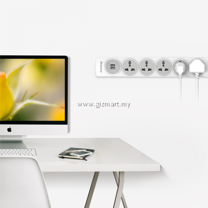 Huntkey SZN607 5 Sockets Surge Protector with 2 USB Port Charger