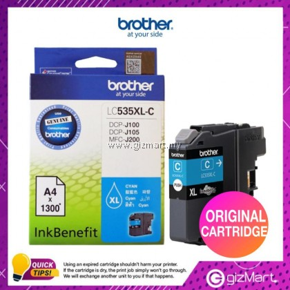 (New Sealed Expired) Brother LC535 XL Ink Cartridge for DCP-J100, J105, MFC-J200 - Cyan
