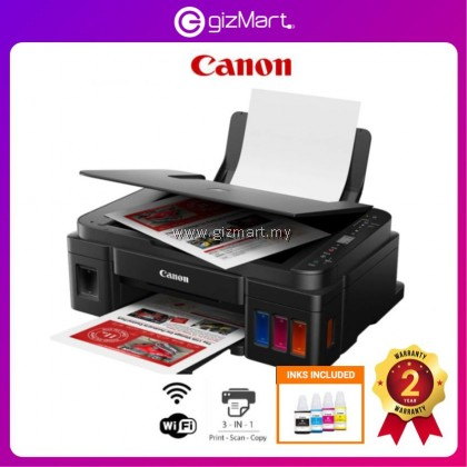 CANON PIXMA G3010 Ink Efficient A4 All-In-One Printer (Print, Scan, Copy, Wifi)