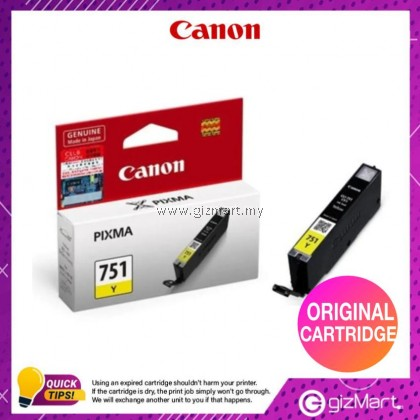 (New Sealed Expired) Canon Ink Cartridge CLI-751Y Yellow
