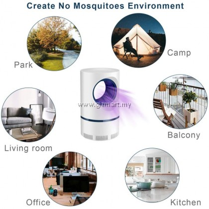 USB Electric Mosquito Repellent LED NO Radiation Photocatalyst Mosquito / Insect Killer Trap