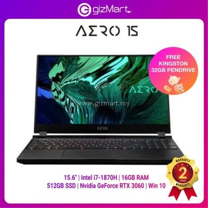 "Gigabyte AERO 15 OLED KC-8MY5130SH Gaming Laptop (i7-10870H/16GB/512GB SSD/RTX 3060/15.6"" Samsung AMOLED/Win10)"