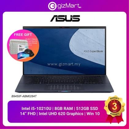 Asus ExpertBook B9450F-ABM0284T 14'' FHD Laptop Star Black ( I5-10210U, 8GB, 512GB SSD, Intel, W10 ) + FREE GIFT