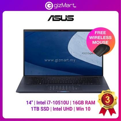 Asus ExpertBook B9450F-ABM0238T 14'' FHD Laptop Star Black ( I7-10510U, 16GB, 1TB SSD, Intel, W10 ) + FREE Wireless Mouse
