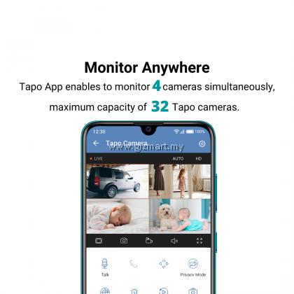 TP-Link Tapo C210 3MP 2K Super HD Pan Tilt Wireless WiFi Home Security Surveillance IP Camera