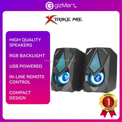 Xtrike Me Usb 2.0 SK-402 3.5 mm Jack Audio Stereo Gaming Speaker with RGB Backlight