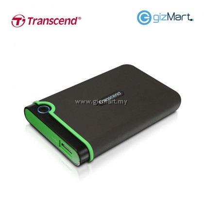 Transcend Storejet 25M3 2TB USB 3.0 Portable Hard Drive-Iron Gray