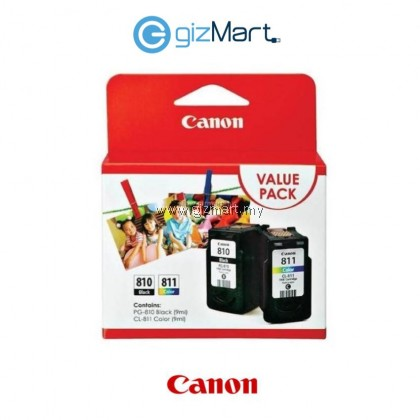 Canon PG-810 + CL-811 Value Pack Ink Cartridge For IP2770/2772/Mp245/237/258/287/486/496/497/MX328/338/347/357/366/416/426