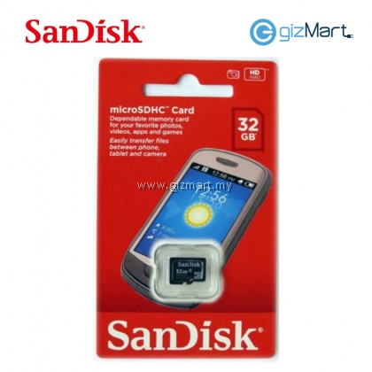 SANDISK MICRO SDHC 32GB MMC CARD WITH ADAPTER