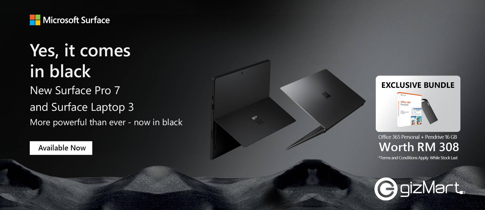 Surface Pro 7 & Surface Laptop 3